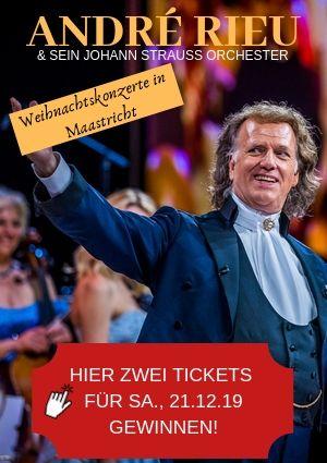 André Rieu Weihnachtskonzerte Maastricht Tickets gewinnen