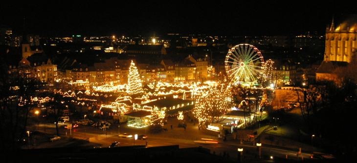 Weihnachtsmarkt Mitteldeutschland Erfurt